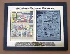 Disney Mickey Mouse 1956 Printing Plate & Page printed to 12 x 15 metal plate