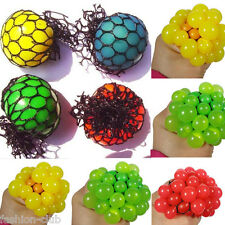 1Pc Novelty Squishy Mesh Ball Grape Squeeze Toy Gag Gift Sensory Fruity Kid Play