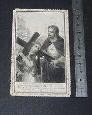 CHROMO 1880-1890 IMAGE PIEUSE CATHOLICISME HOLY CARD CANIVET JESUS CHRIST