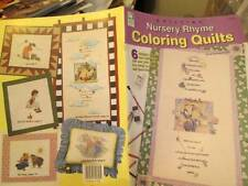 Nursery Rhyme Coloring Quilts Craft Booklet- June Fiechter-6 Patterns-12 Pages O