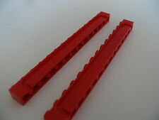 Lego 2 brique rouge volet roulant 6369 6389 6382 7208 / 2 red brick modified