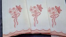 Unused Set 3 MARGHAB Butterfly Small Guest Towels BOX w BULLOCKS WILSHIRE Labels