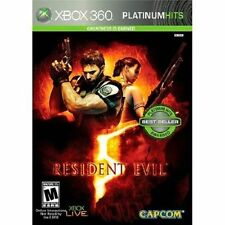 RESIDENT EVIL 5 (PLATINUM HITS) (XBOX 360, 2009) (0102) ***FREE SHIPPING USA***