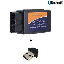 ELM327 Bluetooth OBD2 Diagnostics Code Scanner v2.1 + Bluetooth USB Adapter