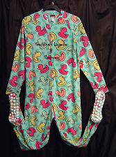 JOE BOXER DUCKS ADULT FLEECE ONE PIECE ONESIE FOOTED FOOTIE PAJAMAS~L~NEW