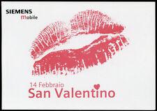 cartolina pubblicitaria PROMOCARD n.4212 SIEMENS MOBILE SAN VALENTINO
