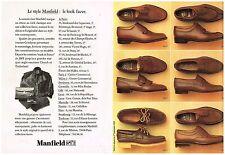 Publicité Advertising 1984 (2 pages ) Les Chaussures Mocassins Homme Manfield