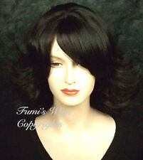 Medium Length Flip Wavy Wig In Black From Fumi Wigs UK