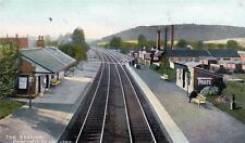 Pencoed Nr Bridgend Raiway Station old pc used 1908 Hardings Britannia series
