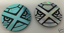 M Mega Metagross EX - Silver Blue / Black Coin Pokemon Promo - Set of 2 BOTH