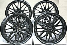 "18"" CRUIZE 190 ALLOY WHEELS MATT SATIN BLACK DEEP DISH 5X108 18 INCH ALLOYS"