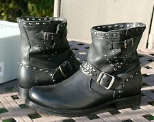 FRYE VERONICA STUD MOTO SHORT US 7.5 Woman's Motorcycle Boot Black