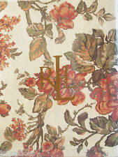 Ralph Lauren Cotton Tablecloth Grace Floral Rust 60 x 84 - NEW