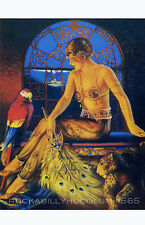Pin Up Girl Poster 11x17 exotic flapper maiden dame art deco Egyptian princess