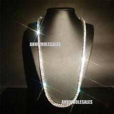 Lady 18k White Gold Filled Swarovski Crystal Diamond Cut Bridal Chain Necklace