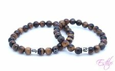 Handmade Tiger eye Bracelet Set for Him and Her Valentine's Day Gift Couples