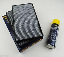 2x Intérieur Filtre pollen filtre charbon actif BMW 5er e60 e61 incl. climatique Nettoyant!