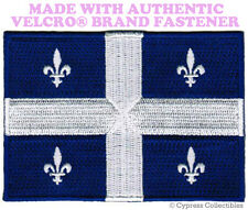 QUEBEC FLAG PATCH CANADA EMBROIDERED new CANADIAN w/ VELCRO® Brand Fastener