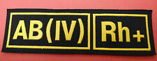 RUSSIAN MILITARY BLOOD TYPE PATCH WITH RHESUS FACTOR  AB+   AB(IV) Rh+  NEW