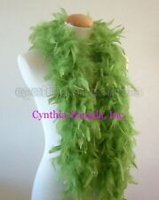 """45g 52"""" long Lime Green chandelle feather boa, diva night, dress up, dancing"""