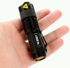 Mini CREE Q5 7W 300LM Adjustable Focus Zoomable Flashlight Torch Light Lamp