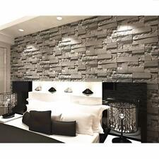 3D Wall Sticker Brick Pattern Textured Non-woven TV Background Home Art Decor
