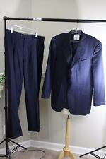 HICKEY-FREEMAN LORO PIANA SUPER 120'S  navy pinstriped pants suit size 42long