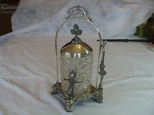 Kate Greenaway Style Figural Quadruple Silver Plated Pickle Castor Complete