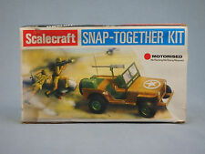 SCALECRAFT WILLYS JEEP MOTORIZED BATTERY POWERED VINTAGE SNAP TOGETHER MODEL KIT