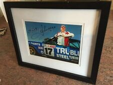 DICK JOHNSON Signed & Framed Photo / Picture Supercars Ford Falcon v8
