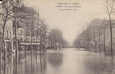 PARIS, France - River Seine Flood January 1910 - Vintage European Card -(F791)