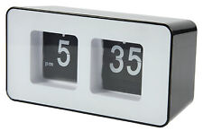 Retro Flip Clock Analogue Black / White