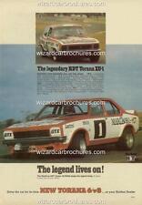 1974 LH HOLDEN TORANA L34 SLR 5000 PETER BROCK GTR XU1 A3 POSTER AD BROCHURE