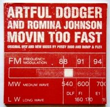 ARTFUL DODGER AND ROMINA JOHNSON - MOVIN TOO FAST CARD SLEEVE CD