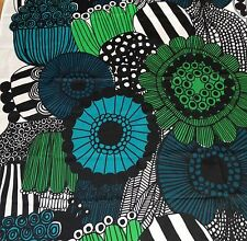 Marimekko Siirtolapuutarha fabric 1.5 yards, green blue black gorgeous!