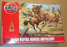 AIRFIX WW1 ROYAL HORSE ARTILLERY 1:72 (25mm) MODEL SOLDIERS UNPAINTED PLASTIC