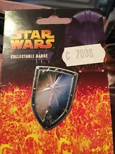 Star Wars Light Saber Shield collectable pin badge good condition on card