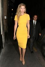 Victoria BECKHAM ABITO MISTO SETA GIALLO UK 10 US 6 IT 42 FR 38