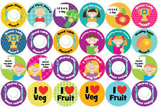 144 Lunchtime Awards 30mm Children's Clean Plate Reward Stickers