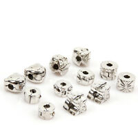 12x Mixed Charms Snap Stopper Bead Fit Bracelets 150165