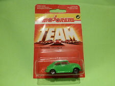 MAJORETTE 203 VW VOLKSWAGEN BEETLE - GREEN 1:60 - NM ON CARD BLISTER