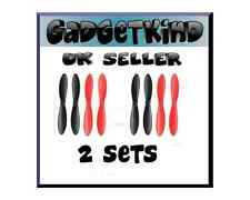 HUBSAN X4 PROPELLER BLADES QUADCOPTER X 2 SETS H107L H107C H107D  RED BLACK