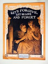 Let's Forgive Let Us Love and Forget Floyd Whitmore Piano Vocal Sheet Music 1918