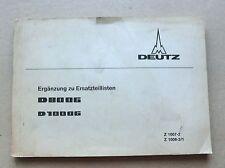 DEUTZ D 80 06  Traktor D 100 06 Ersatzteilliste Ergänzung Original 1972