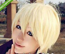 USA New kuroshitsuji Alois Trancy Short Yellow Cosplay Party Hair Full Wig