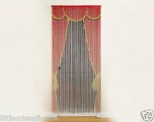 STAGE DOOR BAMBOO DOOR CURTAIN W BEADS *BEADED CORDS *HANDMADE SCREEN IN/OUTDOOR