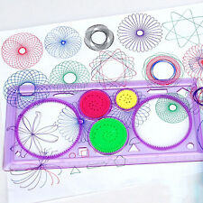 1 Pcs Spirograph Geometric Ruler Drafting Tools Stationery Drawing Toys Set  W