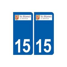 15 Saint-Mamet-la-Salvetat logo ville autocollant plaque sticker arrondis