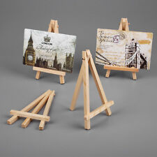 10pcs Mini Wooden Art Painting Name Card Craft Easel Stand Display Supplies
