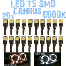 N° 20 LED T5 6000K CANBUS SMD 5050 Faróis Angel Eyes DEPO FK 12v VW Polo 9N 1D3